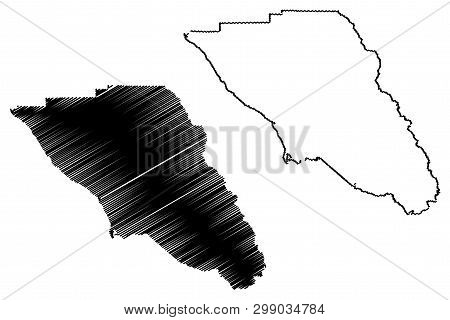 Sonoma County, California (counties In California, United States Of America,usa, U.s., Us) Map Vecto