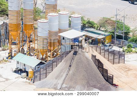 Cement Mixing Plant, Equipment For Production Cement And Concrete