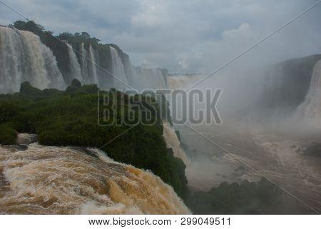 Devils Throat, Garganta Del Diablo, Is The Biggest Of The Iguazu Waterfalls. Located On The Iguazu R