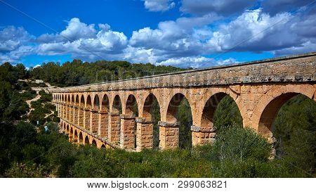 The Ferreres Aqueduct, Also Pont Del Diable Or Devil Bridge, An Ancient Bridge, Part Of The Roman Aq