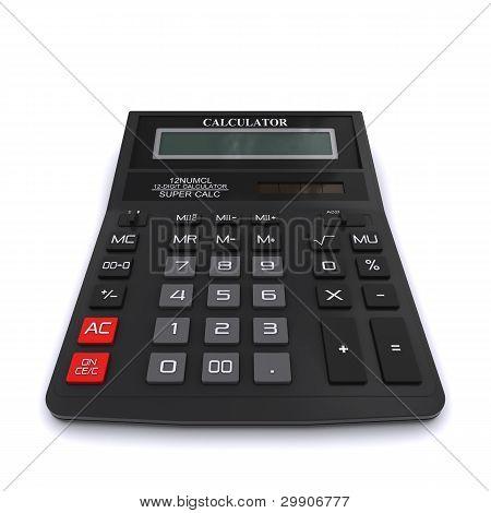 Black office calculator