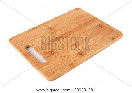 Wooden Kitchen Board Isolated On White Background