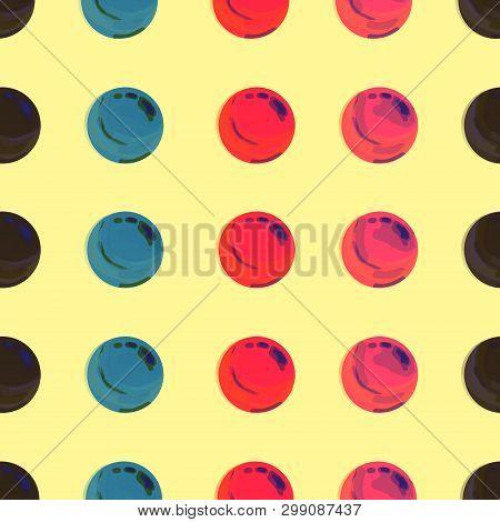 Dotted, Pop Art Background, Pop Art Pattern. Symbolic Background Of Art Of 1960s. Circle Art Round B