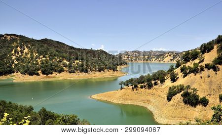 Lake Berryessa, The Largest Lake In Napa County, California. This Reservoir Is Formed By The Montice