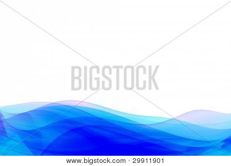 blue waves illustration no: 2