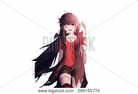 Cute And Beautiful Anime Girl With Long Hair
