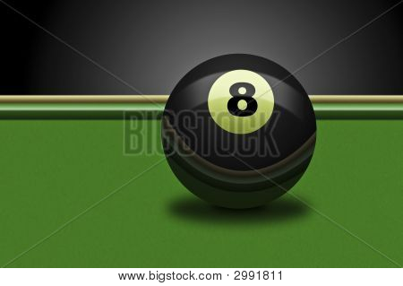 Eight Ball On Table