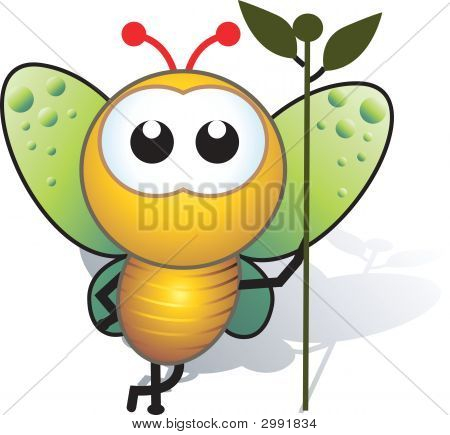 Bee And Stem
