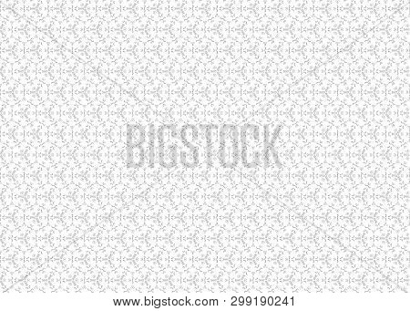 The Floral Oriental Black Isolated Seamless Background