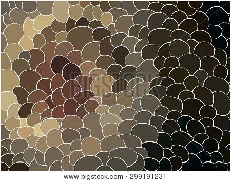 Seamless Pattern With Color Hand Drawn Spots. Vector Illustration