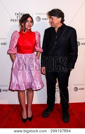NEW YORK, NY - APRIL 30. 2019: Ione Skye (L) and Cameron Crowe R)attending at 30th Anniversary of