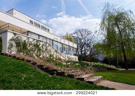 Brno, Czech Republic - April 8 2019: Villa Tugendhat By Architect Ludwig Mies Van Der Rohe Built In