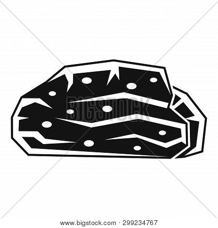 Peat Stone Icon. Simple Illustration Of Peat Stone Vector Icon For Web Design Isolated On White Back