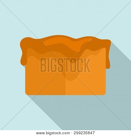 Toffee Cube Icon. Flat Illustration Of Toffee Cube Vector Icon For Web Design