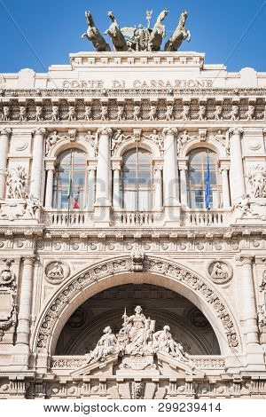 The Sumptuous Building Of The Cassation Court Of Rome Italy