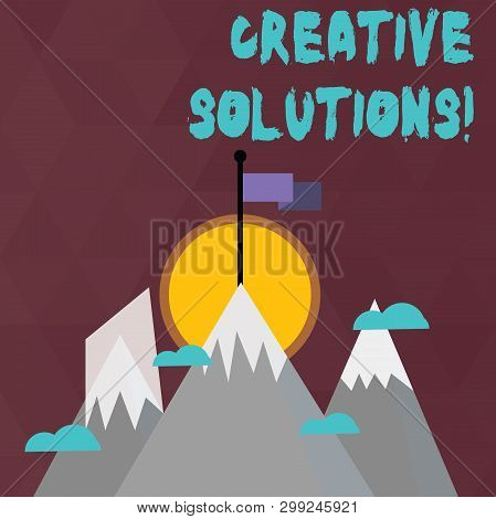 Conceptual Hand Writing Showing Creative Solutions. Business Photo Text Mental Process Of Creating A