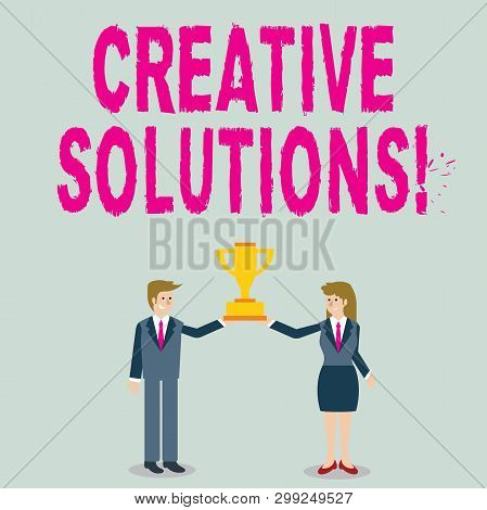 Word Writing Text Creative Solutions. Business Concept For Mental Process Of Creating A Solution To