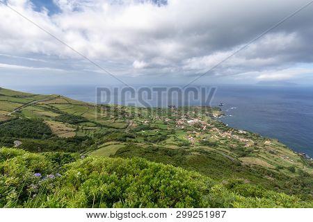 Corvo And Ponta Delgada On Flores, Azores.