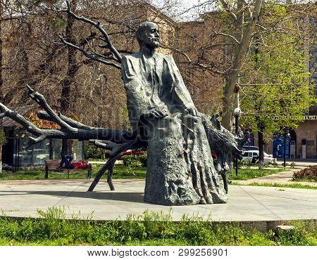 Yerevan,armenia - April 15,2019: The Statue Of Komitas -   Armenian Composer,folklorist, Singer, Mus