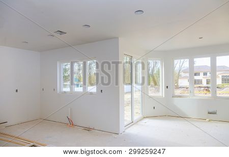 House Under Construction, New Addition Remodel Details New Home Before Installing