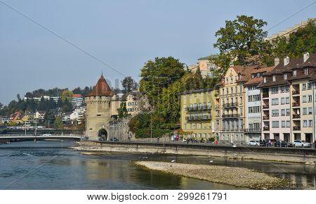 Lucerne, Switzerland - Oct 23, 2018. Historic Building In Lucerne, Switzerland. Lucerne (luzern) Is