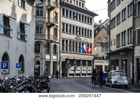 Historic Building In Lucerne, Switzerland