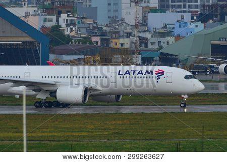 Latam Airbus A350-900 At Saigon Airport
