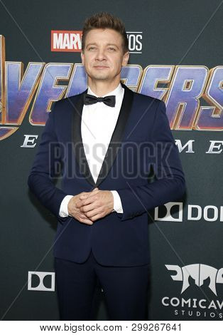 Jeremy Renner at the World premiere of 'Avengers: Endgame' held at the LA Convention Center in Los Angeles, USA on April 22, 2019.