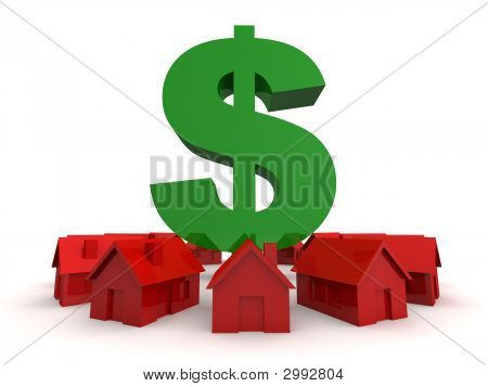 Houses And Dollar Sign