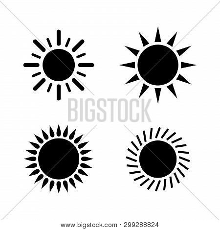 Sun Icon Set. Sun Collection Logo Icon Vector. Sun Star Collection, Sun Icon Logo. Sun Icon. Sun Log