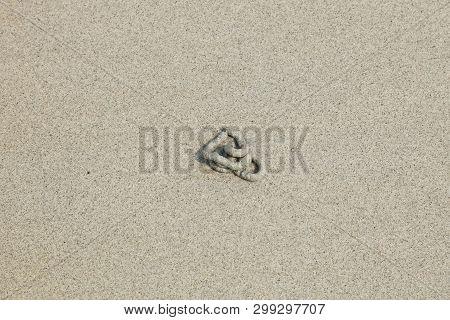 Sand Beach With Blue Sea On Sichang Island In Chonburi, Thailand.