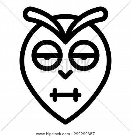 Blinking Owl Head Icon. Outline Blinking Owl Head Vector Icon For Web Design Isolated On White Backg
