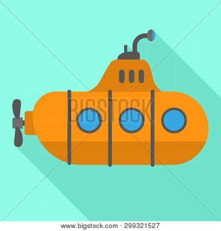 Periscope Retro Submarine Icon. Flat Illustration Of Periscope Retro Submarine Icon For Web Design