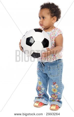 Baby With Soccer Ball