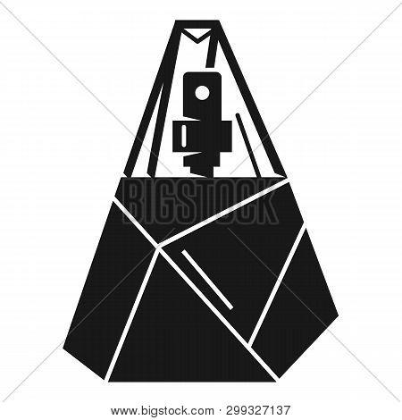 Prismatic Bottle Of Perfume Icon. Simple Illustration Of Prismatic Bottle Of Perfume Icon For Web De