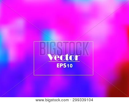 Purple Blurred Vector Background With Halftone Effect. Smooth Pink And Violet Gradient