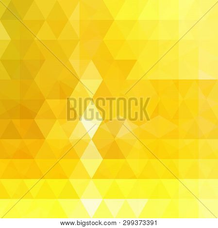 Abstract Yellow Mosaic Background. Triangle Geometric Background. Design Elements. Vector Illustrati