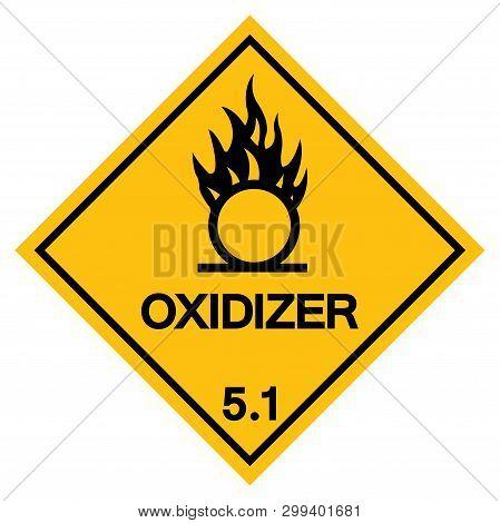 Warning Oxidizer Symbol Sign, Vector Illustration, Isolate On White Background, Label .eps10