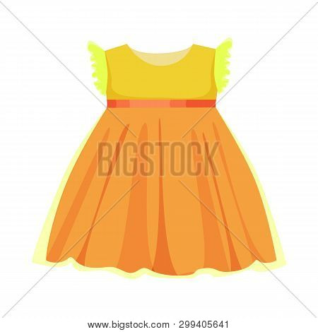 Vector Design Of Dress And Child Icon. Set Of Dress And Cute Stock Vector Illustration.