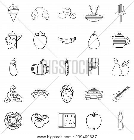 Luncheon Icons Set. Outline Set Of 25 Luncheon Icons For Web Isolated On White Background