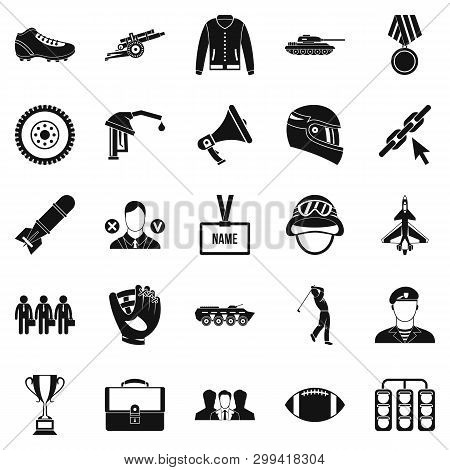 Conquest Icons Set. Simple Set Of 25 Conquest Icons For Web Isolated On White Background