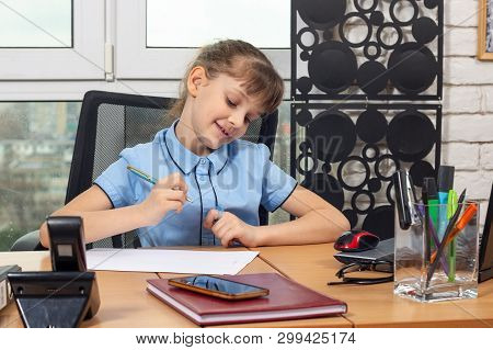 Eight-year-old Girl Rejoices After Signing Another Document