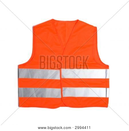 High Visibility Vest On White