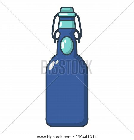Bottle With Bung Icon. Cartoon Illustration Of Bottle With Bung Icon For Web