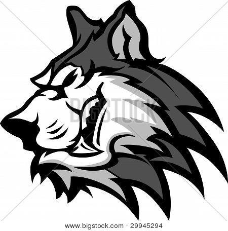 Gráfico vectorial de mascota Husky
