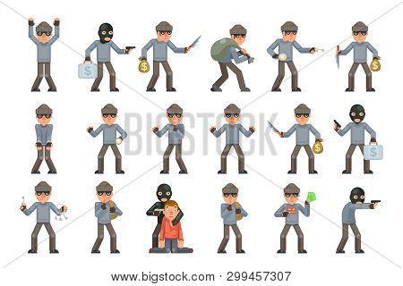 Evil Danger Greedily Risk Housebreaker Thief Threat Rogue Villian Terrorist Criminal Character Carto