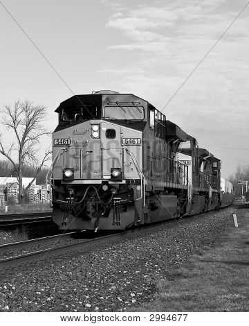 B&W Modern Locomotive