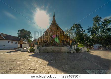 Long Exposure Wat Xieng Thong At Luang Prabang, Laos.