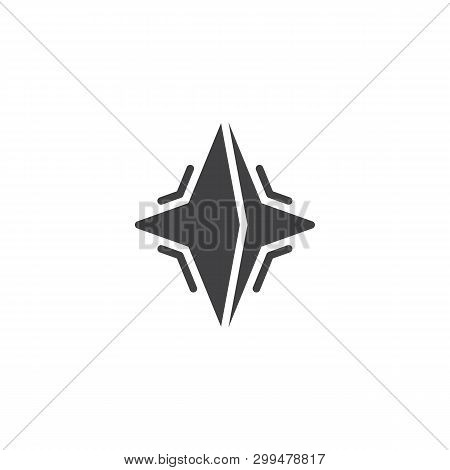 Neutron Star Vector Icon. Filled Flat Sign For Mobile Concept And Web Design. Pulsar Star Glyph Icon