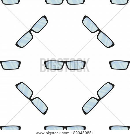 Sun Summer Glasses. Wrapping Paper, Summer Style Collection. Eyeglasses, Specs Pattern. Accessories